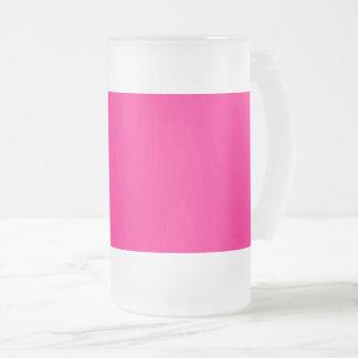 Caneca De Cerveja Vidro Jateado Negócio   do rosa quente da cor da Web do código