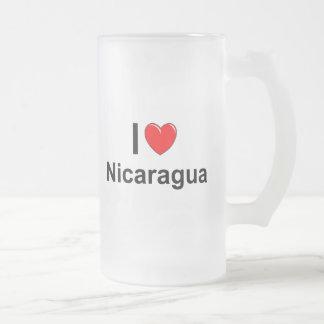 Caneca De Cerveja Vidro Jateado Nicarágua
