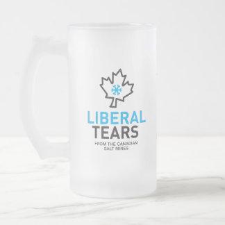 Caneca De Cerveja Vidro Jateado O liberal rasga o federalista engraçado de Canadá