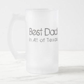 Caneca De Cerveja Vidro Jateado O melhor pai em Texas