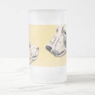 Caneca De Cerveja Vidro Jateado O urso dos vidros de cerveja do urso polar agride