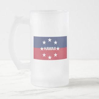 Caneca De Cerveja Vidro Jateado Padrão do governador de Hawaiʻi