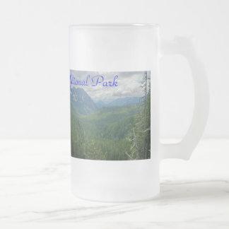 Caneca De Cerveja Vidro Jateado Parque nacional de Monte Rainier