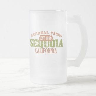 Caneca De Cerveja Vidro Jateado Parque nacional de sequóia