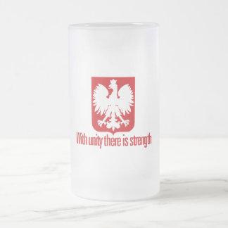 Caneca De Cerveja Vidro Jateado Polônia-Com a força da unidade