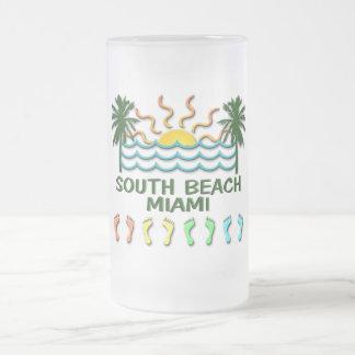 Caneca De Cerveja Vidro Jateado Praia sul Miami