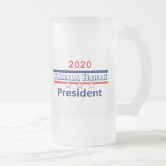 Caneca De Cerveja Vidro Jateado Presidente 2020 de Kamala HARRIS