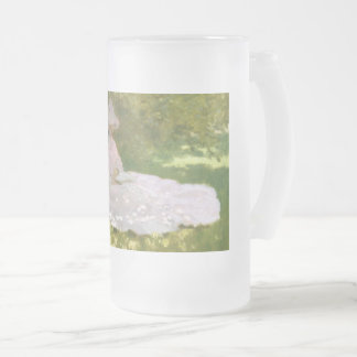 Caneca De Cerveja Vidro Jateado Primavera por Claude Monet