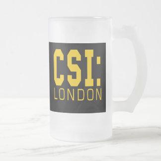 Caneca De Cerveja Vidro Jateado Produtos de CSI Londres