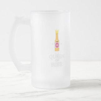 Caneca De Cerveja Vidro Jateado Rainha da cerveja Zh80k