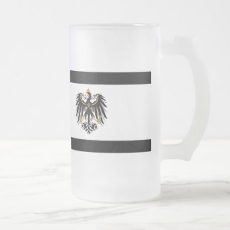 Caneca De Cerveja Vidro Jateado Reino Preussen estandarte de nacional