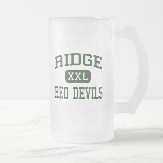 Caneca De Cerveja Vidro Jateado Ridge - diabos vermelhos - alto - Ridge Basking