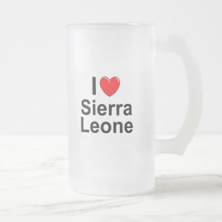 Caneca De Cerveja Vidro Jateado Sierra Leone