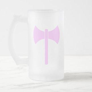 Caneca De Cerveja Vidro Jateado Símbolo cor-de-rosa de Amazon