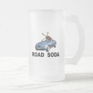 Caneca De Cerveja Vidro Jateado Soda da estrada