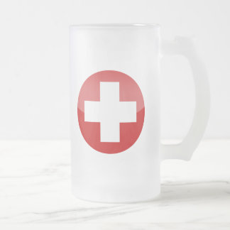 Caneca De Cerveja Vidro Jateado suiça