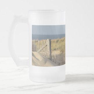 Caneca De Cerveja Vidro Jateado Trajeto através das dunas para competir a praia do