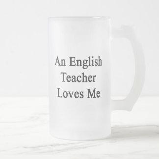 Caneca De Cerveja Vidro Jateado Um professor de inglês ama-me