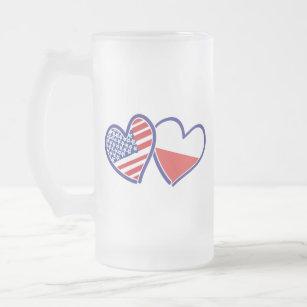 65d968850dbd2 CANECA DE CERVEJA VIDRO JATEADO USA-POLISH-FLAG-HEARTS