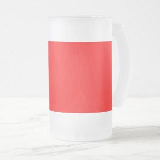 Caneca De Cerveja Vidro Jateado Vermelho brilhante colorido da Web do código do