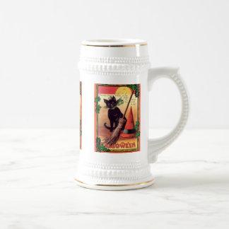 Caneca De Cerveja Vintage o Dia das Bruxas