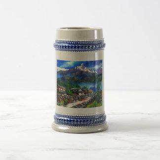 Caneca De Cerveja Vista panorâmica da montanha Nepal de Everest