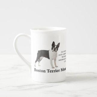 Caneca de China de osso da mamã de Boston Terrier