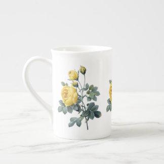 Xícara De Chá Caneca de China de osso de Redoute do rosa amarelo