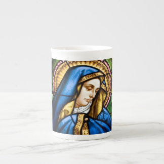 Caneca de China de osso do vitral de St Mary