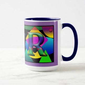 Caneca de Cofee de D & de monograma de R