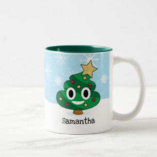 Caneca de Emoji do tombadilho da árvore de Natal