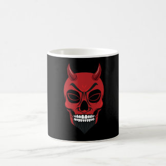 Caneca de esqueleto do demónio do crânio do diabo