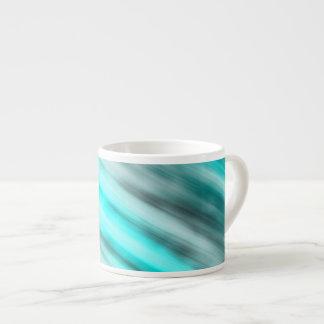Caneca de Expresso, arte abstracta, luz - azul.
