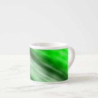 Caneca de Expresso, arte abstracta, verde