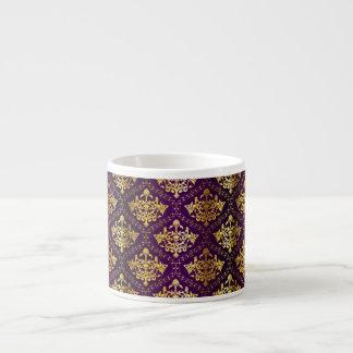 Caneca de Expresso do roxo real & do ouro Caneca De Café