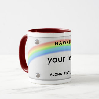caneca de Havaí da matrícula
