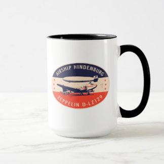 Caneca de Hindenburg LZ129 do dirigível do vintage