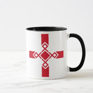Caneca de Inglaterra - cruz anglo-saxão do Rune