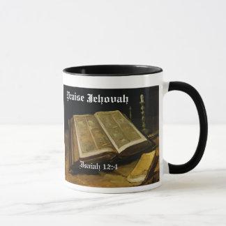 Caneca de Jehovah do elogio
