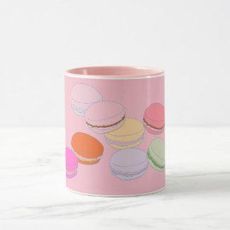 Caneca de Macaron Coffeee do francês