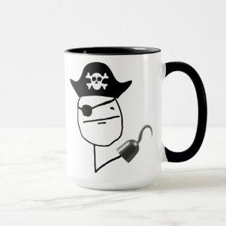Caneca de Meme da cara de póquer do pirata