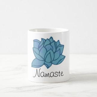 Caneca de Namaste Lotus azul