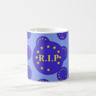 """Caneca de """"R.I.P"""" Brexit"""