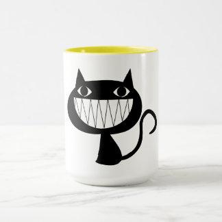 Caneca de sorriso do gato