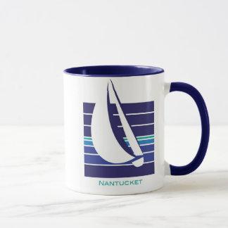 Caneca de Square_Nantucket dos azuis do barco