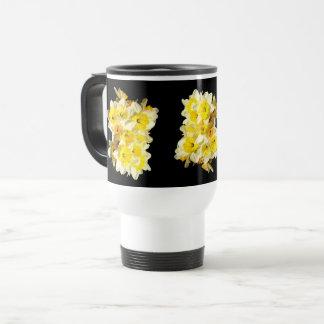Caneca de viagem amarela do grupo do Daffodil do
