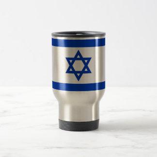 Caneca de viagem com a bandeira de Israel