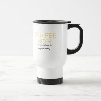 Caneca de viagem da mamã do café