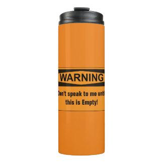 Caneca de viagem de advertência do Thermal do café