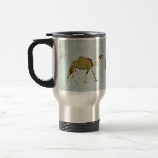 Caneca de viagem do monograma dos camelos